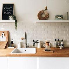 Future Home Interior .Future Home Interior Kitchen Interior, New Kitchen, Kitchen Dining, Kitchen Decor, Interior Plants, Diy Interior, Interior Lighting, Sweet Home, Cuisines Design