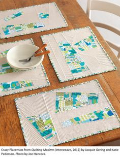 """Tallgrass Prairie Studio: """"Quilting Modern"""" Style!    Love these - and small pieces are a great way to practice the quilting skillz"""