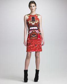 Formfitting Printed Dress by Mary Katrantzou at Neiman Marcus.