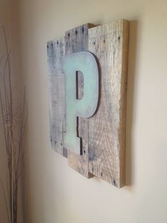 Wall pallet decor