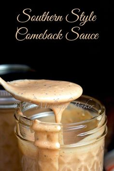 There's a lot of different formulas for comeback sauce. I particularly liked the flavors in Mary Foreman from Deep South Dish's Mississippi Comeback Sauce, so I tailored it to my own taste. Sauce Creole, Comeback Sauce, Enjoy Your Meal, Salsa Dulce, Deep South Dish, Marinade Sauce, Snacks Für Party, Homemade Sauce, Homemade Candies