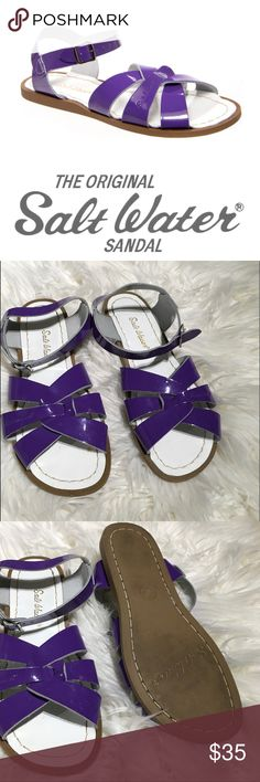 Salt Water Sandals Like new purple salt water sandals. Adorable and comfortable! Please ask questions. Salt Water Sandals by Hoy Shoes Sandals