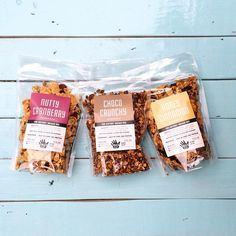 Our deluxe mix collection  #snackeat Granola Packaging