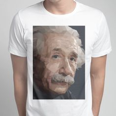 Einstein low poly - Men's Crew - Designed by e.v.a.n.d.e.r. using Snaptee