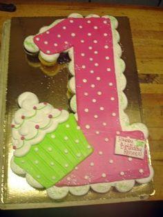 Pull apart cupcakes cake - number 1.