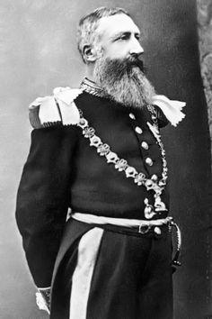 Le roi Léopold II de Belgique empereur romain germanique