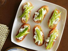 Kick off the party with these easy Asparagus Crostini topped with fresh ricotta and sliced asparagus.