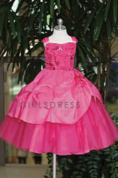 Stunning Taffeta Flower Girl Dress with Sparkly Tulle Underlay. Pick-ups on skirts & bodice embroidered with ribbons & sequins. Pageant Dresses, Formal Dresses, Pink Dress, Flower Girl Dresses, Birthday Dresses, Bodice, Ball Gowns, Tulle, Sequins