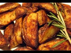 Roasted Rosemary and Garlic Potatoes Recipe - Laura in the Kitchen - Internet Cooking Show Starring Laura Vitale