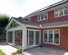 Gable roof extension with windows in gable end