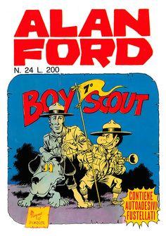 Alan Ford 24 - giugno 1971 - Boy scout - Soggetto e Sceneggiatura Max Bunker - matite Magnus - chine Giovanni Romanini - Copertina Magnus