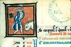 Avant d'être dans l'assiette, il faut tuer la bête !  Coll Bib Beaune, manuscrit MS0039 f.007