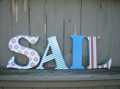 Wooden letters for nursery