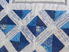 Wedding signature quilt close up