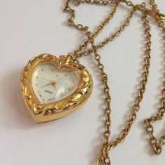 "teddybearheart: "" Vintage heart necklace please do not remove caption "" Cute Jewelry, Jewelry Accessories, Jewlery, Stylish Jewelry, Gold Jewelry, Fashion Jewelry, Women Jewelry, Bling, Accesorios Casual"