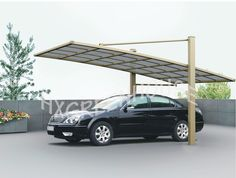 Aluminium polycarbonate used carports for sale with new style HX611