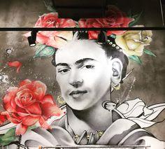 """""""No estoy enferma! estoy rota, pero estoy feliz de estar viva mientras pueda pintar"""" #fridakahlo by @socrome #streetart #graffiti #graff #spray #bombing #wall #instagraff #urbanart #graffitiwall #wallporn #wallpornart #streetarteverywhere #streetphoto #streetartandgraffiti #urbanwalls La Villette #paris"""
