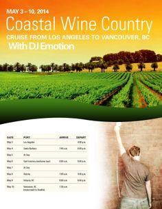 Wine Country, Santa Barbara, Vancouver, Cruise, Coastal, Dj, Outdoor, Outdoors, Cruises