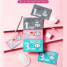 Pig-nose Clear Black Head 3 Step Kit by Holika Holika * 1 Sheet #HOlikaHolika