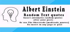 Albert Einstein Best Quotes|Wordpress Plugin | Media Ads Labs