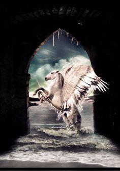 Pegasus saves the day.