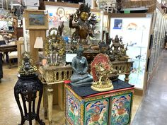 An incredible collection of Bodhisattva and Sino-Tibetan Buddha Bronzes Vendor Displays, Antique Art, Buddha, Home Goods, Bronze, The Incredibles, Indoor, Antiques, Gallery