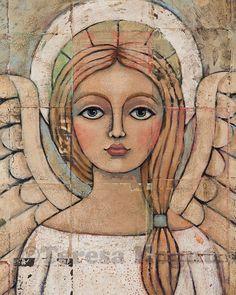 ANGELIC VISION 8x10 print by Teresa Kogut. $15.00, via Etsy.