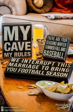 My Cave My Rules. Box Signs for the Man Cave.