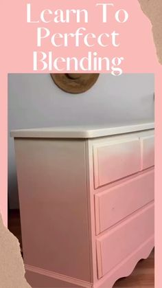 Learn How To Perfectly Blend Paint on Furniture with Bella Renovare! Check out this easy peasy blending video! How to blend two colors easily! With Dixie Belle Paint in Apricot and Buttercream. Try this on your next furniture painting project.