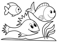 Cute and Educative Fish Coloring Pages