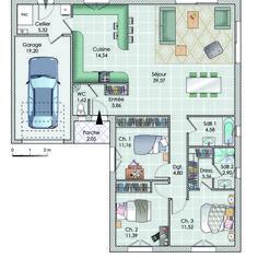 My House Plans, Architecture Plan, Habitats, Bungalow, Sweet Home, Workshop, Floor Plans, Cabin, Flooring