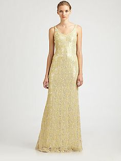 Badgley Mischka Metallic Gown
