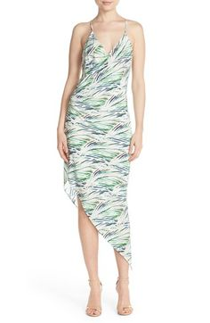 Charlie Jade Print Silk Faux Wrap Midi Dress available at #Nordstrom