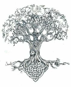 ideas celtic tree of life tattoo design tatoo Celtic Symbols, Celtic Art, Celtic Knots, Symbols Of Life, Scottish Symbols, Sister Symbols, Celtic Runes, Celtic Mandala, Irish Symbols