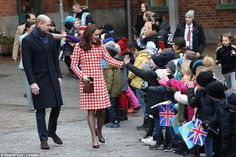 Royal reception: After this morning's visit to the Karolinska Institutet, the two couples ...