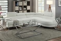 2 pc Madison collection white faux leather upholstered sectional sofa set with rounded chaise. Sectional features a rounded chaise with flip up headrests. Sectional measures x L Chaise x D x H. Some assembly may be required. Selling Furniture, Home Decor Furniture, Living Room Furniture, Living Room Decor, Sectional Sofa With Recliner, Leather Sectional, Chaise Sofa, Couches, Contemporary Dining Room Sets