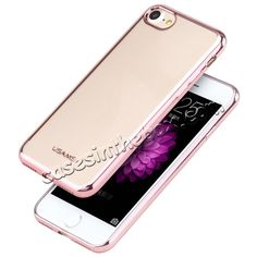 USAMS Kim Series Plating Clear TPU Case Cover for iPhone 7 4.7 inch - Rose Gold…
