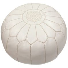 Cherise Pouf Ottoman in White ($153) ❤ liked on Polyvore featuring home, furniture, ottomans, white furniture, white ottoman and white footstool