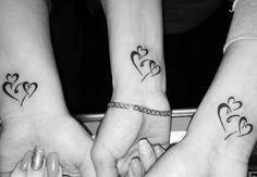 Love heart tattoo, small heart tattoos, wrist tattoos for women, sm Love Heart Tattoo, Small Heart Tattoos, Heart Tattoo Designs, Small Wrist Tattoos, Tattoo Designs For Women, Tattoo Small, Sister Tattoo Designs, Design Tattoos, 3 Hearts Tattoo