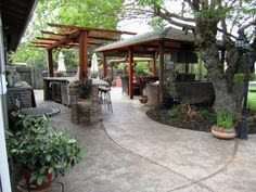 DIY large stone covered patio