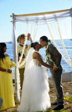 On January 16, 2014, Jonathan Fatu  (WWE Superstar Jimmy Uso) married girlfriend Trinity McCray (WWE Diva Naomi) in front of friends and family in Hawaii. The wedding was featured on the E! reality show Total Divas #WWE #wwecouples #wweweddings #TotalDivas