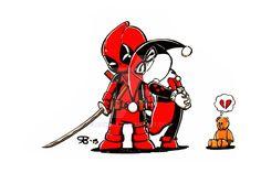 Deadpool & Harley Quinn little