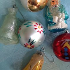 Vintage Christmas tree ornaments.