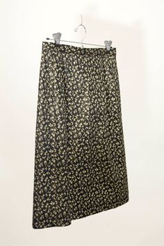 vintage 50s brocade skirt gold black by vintagecommon on etsy