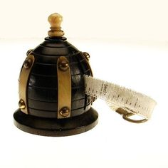 Antique Figural Beehive Shaped Wooden Sewing Tape Measure