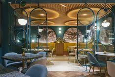Restaurant fusion at Tenerife - In Out Studio Restaurant Layout, Restaurant Interior Design, Office Interior Design, Cafe Restaurant, Restaurant Interiors, Restaurant Recipes, Commercial Design, Commercial Interiors, Starting A Restaurant