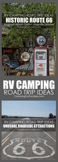 RV Camping Road Trip Ideas With Unusual Roadside Attractions! Some camp trips are short weekend getaways, others are full-fledged vacations. For our family, camping trips are about the journey as much as the destination. When planning your next trip, allo
