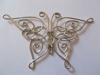 How to make a wire wrapped pendant. Celtic Butterfly Pendant -