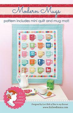 Modern Mugs Mini Quilt Pattern by Lori Holt of Bee in my Bonnet