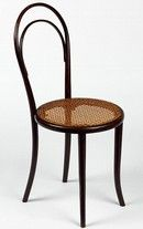 Chair, model no. 14, designed and manufactured by Thonet Brothers (Gebrüder Thonet), about 1859.